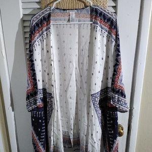 Boho print kimono